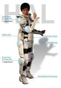Cyberdyne's new Robotic Suit HAL strikes a dashing pose, completely fitting with its Japanese SciFi pedigree.