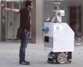 Autonoumous City Explorer (ACE) navigated Munich by the friendly finger-pointing of humans.
