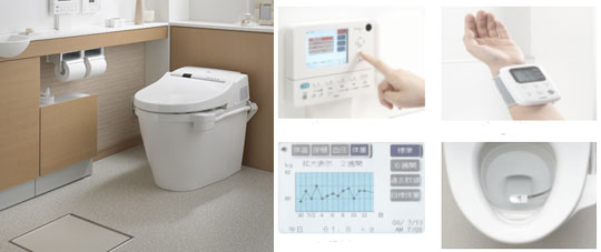 Toto's new Intelligence Toilet II monitors weight, blood sugar levels, and other vital signs, transferring data to your computer for analysis via WiFi.