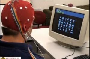 A researcher, Adam Wilson, sent a tweet using BCI2000 software and an EEG.