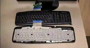 On the outside it looks like a regular keyboard, but inside it knows how hard you're typing.