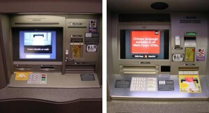Two different versions of the new Wells Fargo ATMs