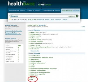 According to healthbase, hynopsis may be evil. Definitely a CON.