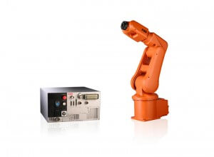 Seen here next to its controller, the ABB IRB 120 is the world's smallest industrial robot.