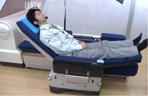 Panasonic's new robots are kick butt healthcare assistants: like this bed that transforms into a motorized chair.