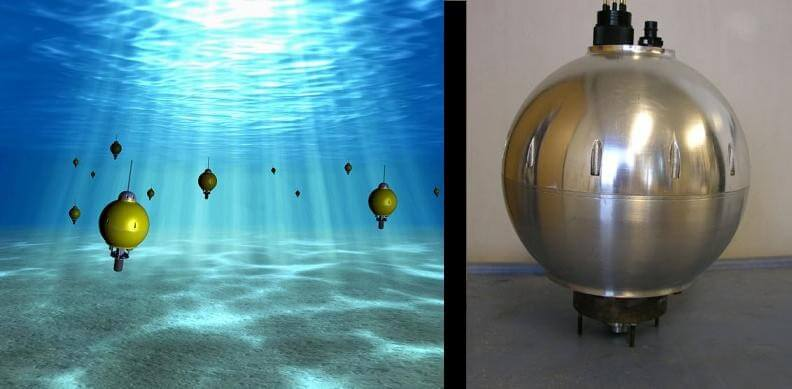 The drone swarm will eventually help explore the ocean (left). Right now, there are only five or six of the prototypes (right).