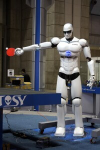 Ping pong playing robots with killer abs...must be time for iREX again.