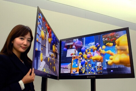 I wonder how easy it would be to connect several such TVs into a big multi-screen you could fold up.