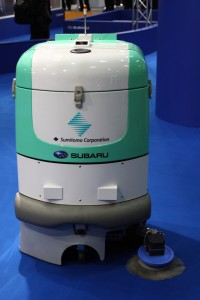 Ah, finally a non-humanoid robot: Subaru's floor cleaner.