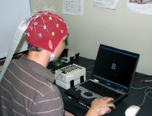EEG can be used to determine what kinds of objects you're looking at. That information may be used to help tag images with labels.