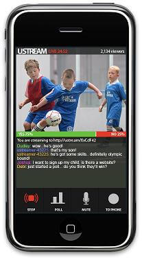 Ustream Live Broadcaster is the first such app approved for sale at the App store.