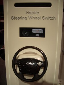 Kia steering wheels with haptics dials