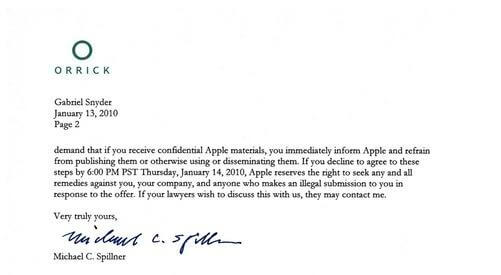 apple letter from gawker