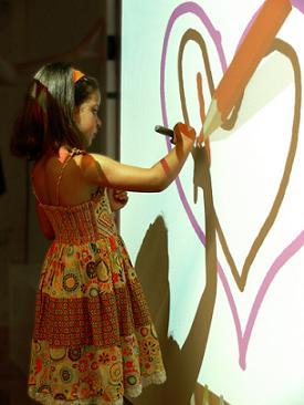 crayon wall at museum