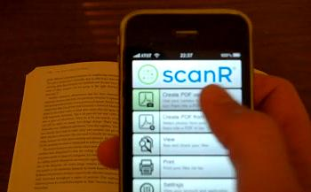 scanr iphone app scanner and fax