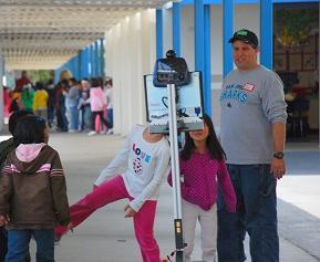telerobot at school