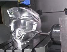 milling robot carves metal