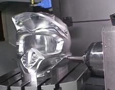 milling robot carves metal