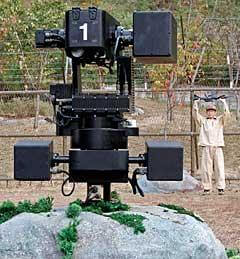 korea DMZ armed robot border