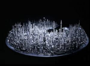 Cool Futuristic CityScape Sculpted Out of Nothing But Drill Bits