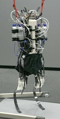 Athlete robot runs like a human