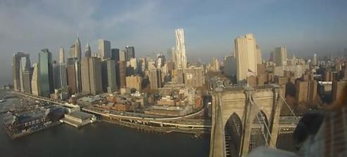 FPV RC plane flies through NYC