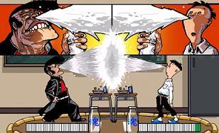 Peeing Video Game battle