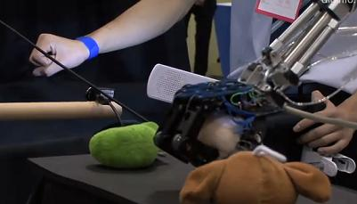 Robot controlled by gestures