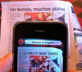 Word Lens translates what you see in real time.