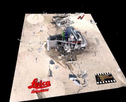Zebra Imaging digital print of explosion