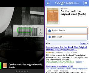 Google Goggles reads barcodes