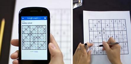Google Goggles solves sudoku