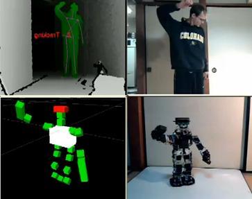 Kinect Teleoperated Robot