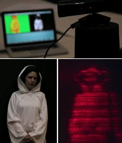 Leia Hologram in pieces