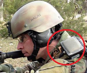 Shoulder mounted sniper detector