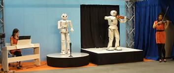 Toyota Robots play with humans
