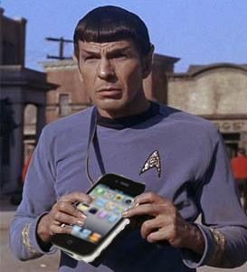 Spock with iPhone
