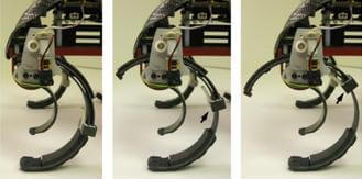 Hexapod gait adjusted