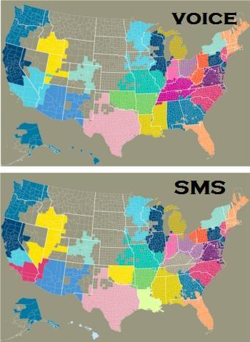 CSA maps SMS vs Phone small