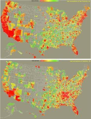 CSA maps comparison SF-TN small