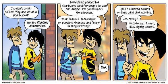 Starbucks Card as understood by Penny Arcade