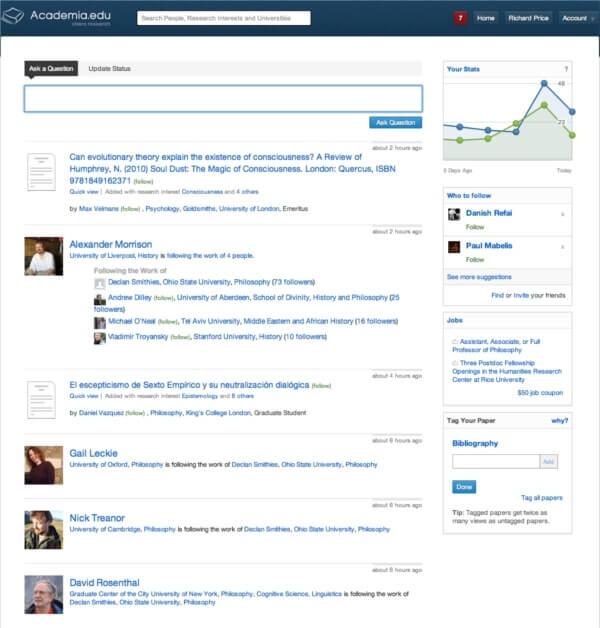 AcademiaDOTedu news feed