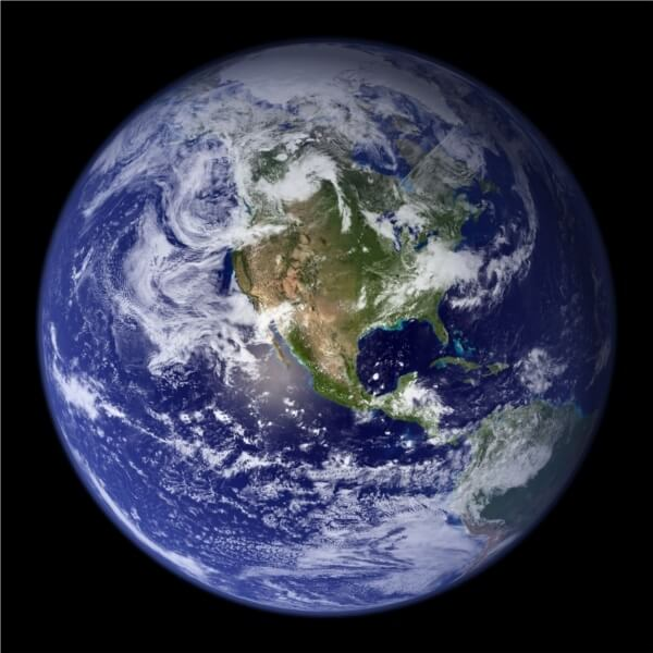 Blue Marble 2001 West
