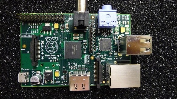 Raspberry Pi beta board up close