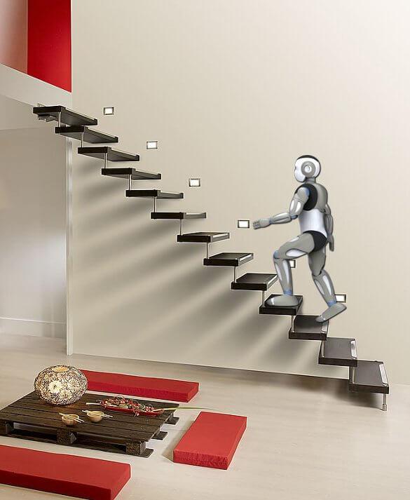 Romeo on stairs