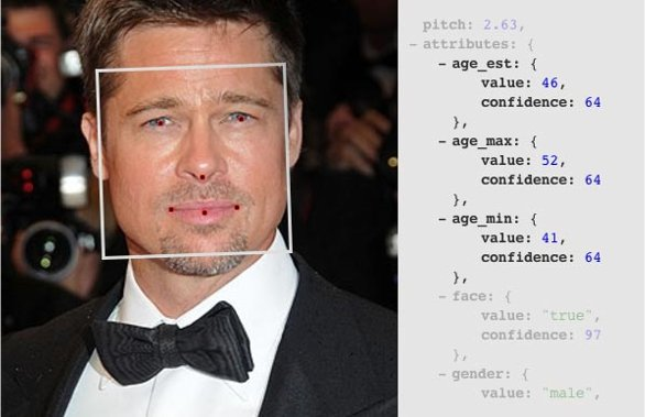 Brad Pitt FaceDOTcom Age Detection