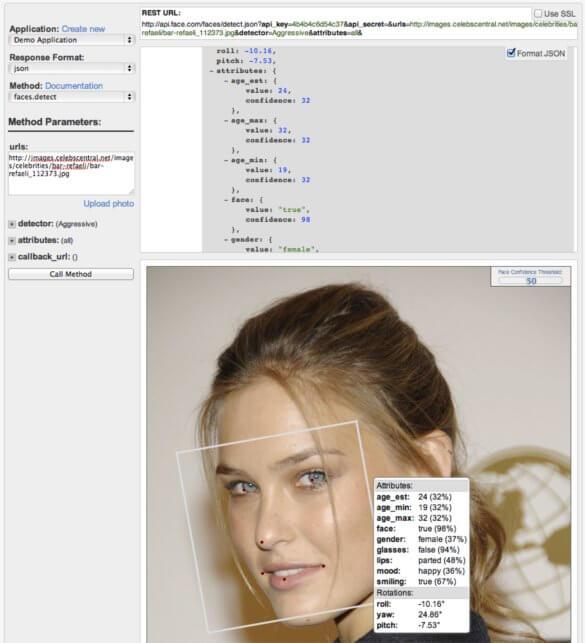 FaceDOTcom age detection 1