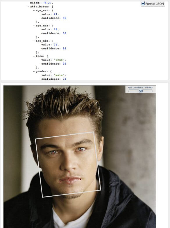 Leonardo DiCaprio FaceDOTcom Age Detection