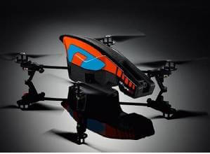 The AR.Drone 2.0 has two high-definition cameras that stream and record video on your control device.
