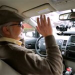 "Steve Mahan, who is legally blind, ""drives"" in Google's self-driving car."